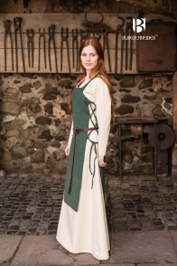 Medieval Garment Set Gyda with Underdress and Apron Dress