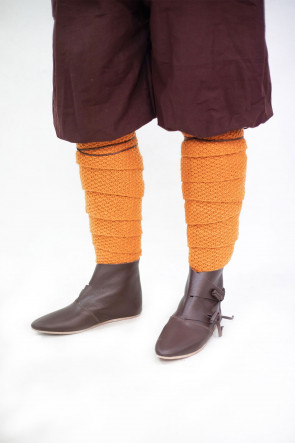 Knitted Wool Winingas Askil - Orange