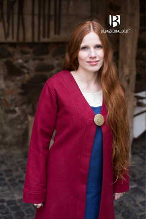 Birka Coat Aslaug - Wool Red
