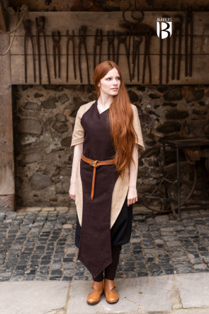 Apron Asua - Wool Brown