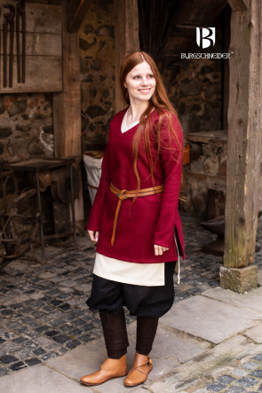 Wool Tunic Hyria - Red