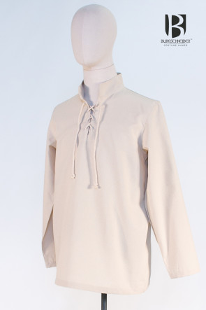Laced Shirt Tristan by Burgschneider in natural white